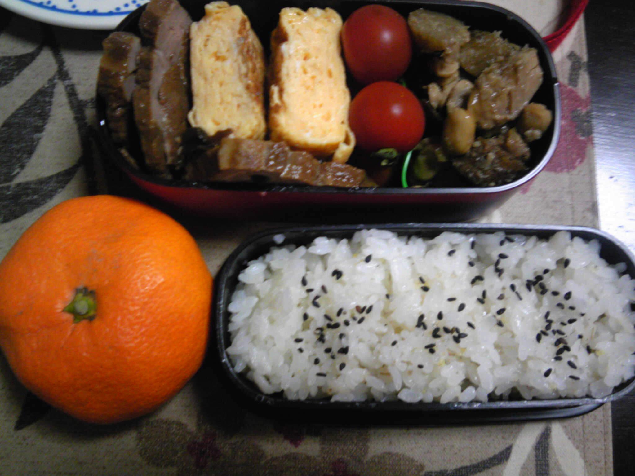 豚の黒酢煮弁当