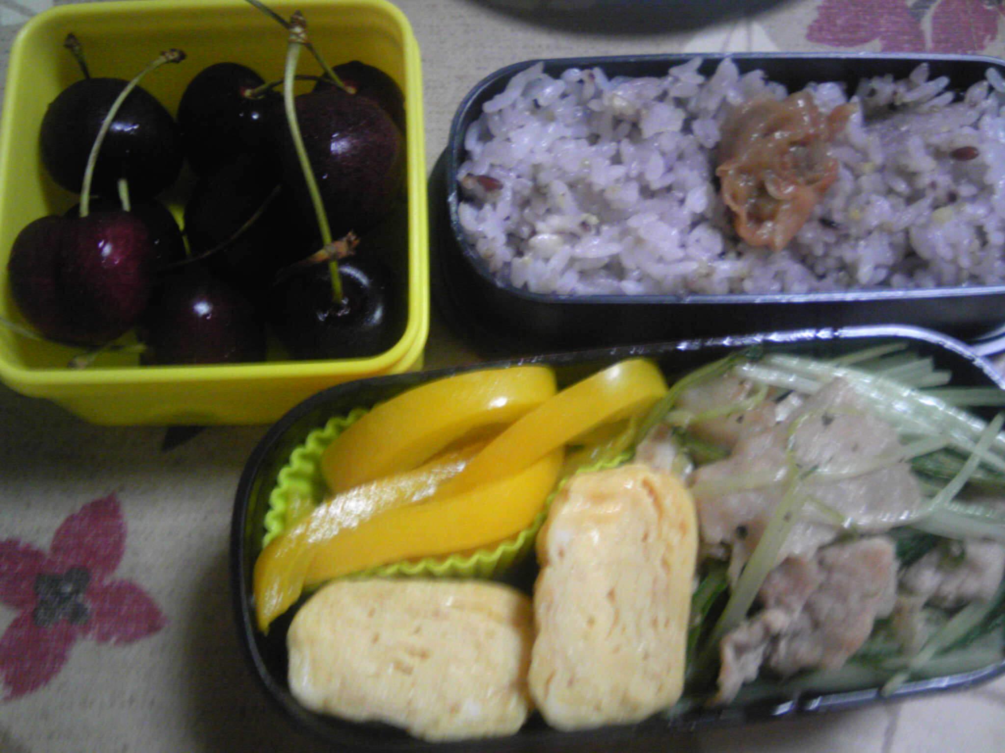 豚肉と水菜の炒め物弁当