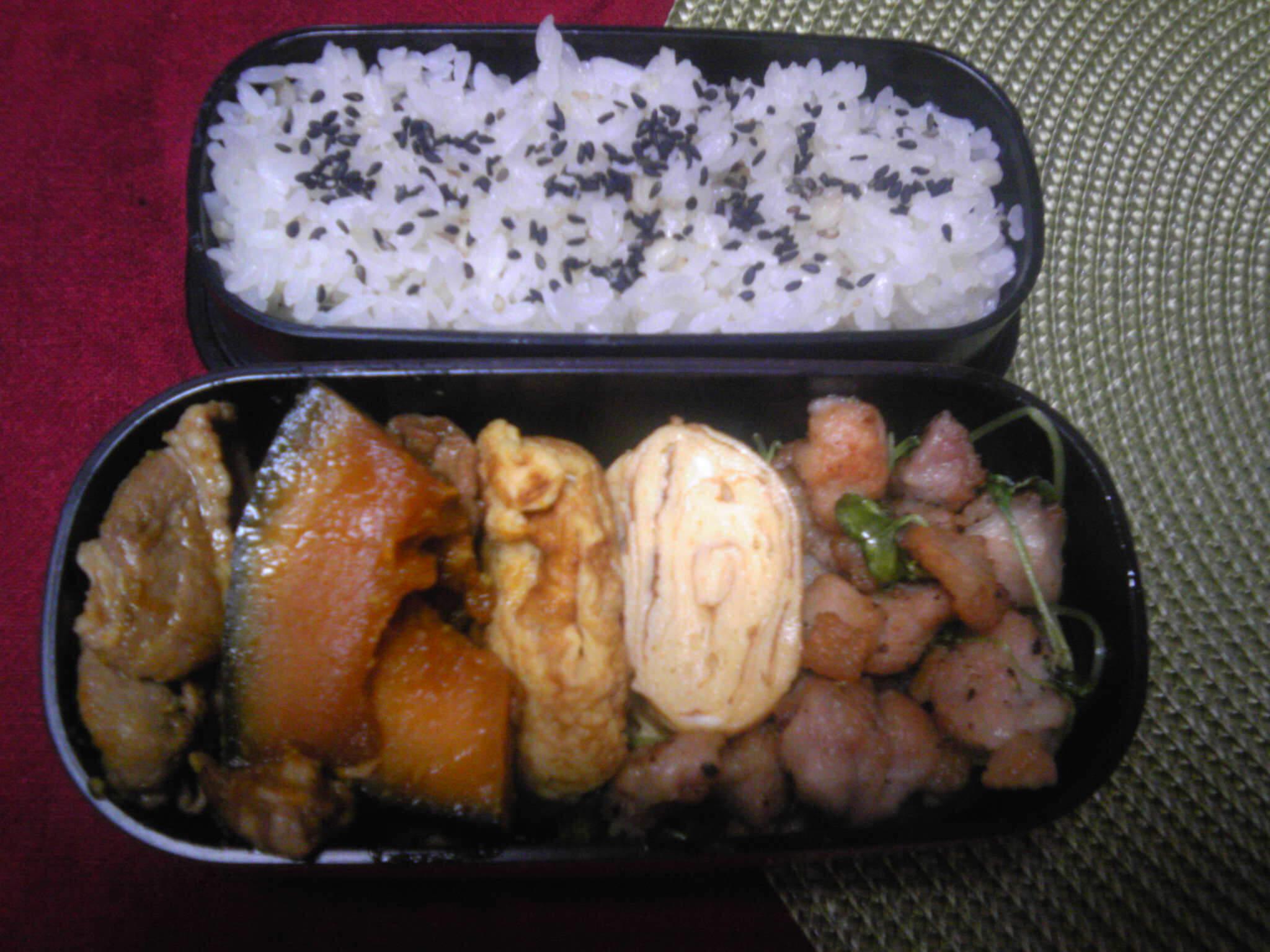 鶏肉とつまみ菜炒め弁当