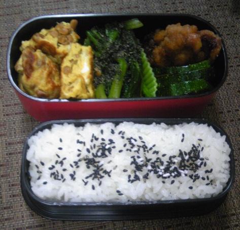 納豆卵焼き弁当